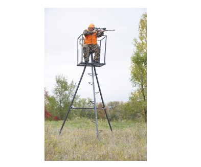 10. Guide Gear 13' Deluxe Tripod Deer Stand