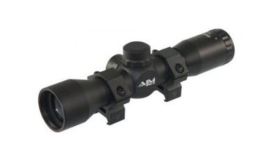 2. Aim Sports 4x32 Compact Rangefinder Scope with Rings