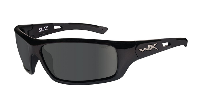 6. Wiley X Slay Sunglasses, Polarized Smoke Grey, Gloss Black