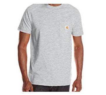 3. Carhartt Men's Force Cotton Short Sleeve T-Shirt Relaxed Fit