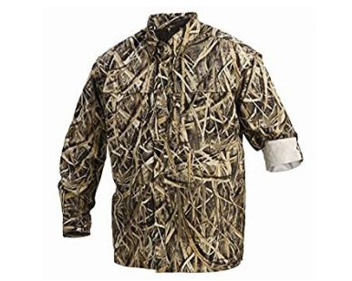 5. Drake Waterfowl Long Sleeve Migration Casual Hunting Shirt (Mossy Oak Shadow Grass Blades)