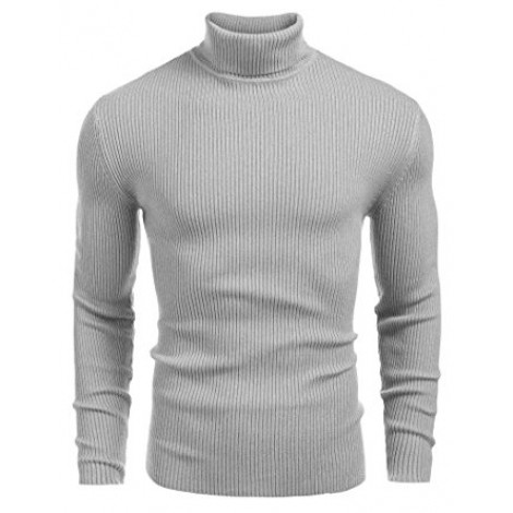 14. Coofandy Ribbed Slim Fit Knitted