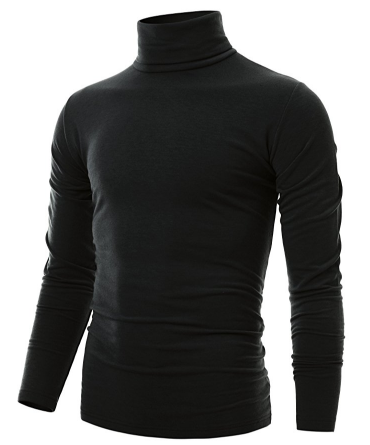 5. OHOO MENS SLIM FIT SOFT COTTON PULLOVER