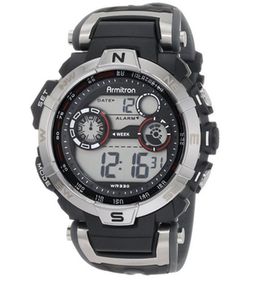 4. Armitron Sport Men's 408231RDGY Digital Watch