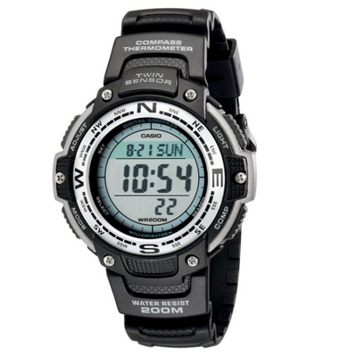 1. Casio Men's SGW100-1V Twin Sensor Digital Black Watch