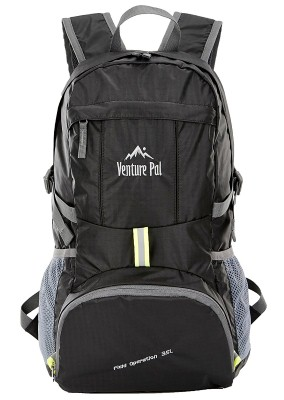 3. VENTURE PAL LIGHTWEIGHT PACKABLE DURABLE TRAVEL HIKING BACKPACK