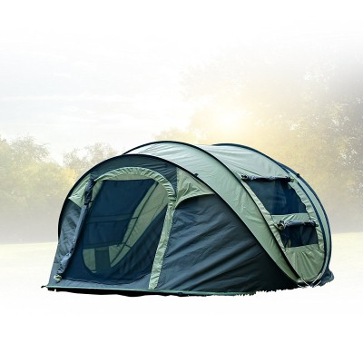 6. FiveJoy Instant 4-Person Pop Up Tent Set Up in Lightning Speed