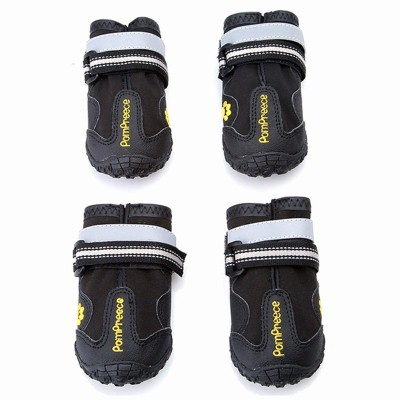 6. Maxshop 4 pcs Waterproof Rugged Dog Shoes Pet Boots for Small Medium Large Dogs