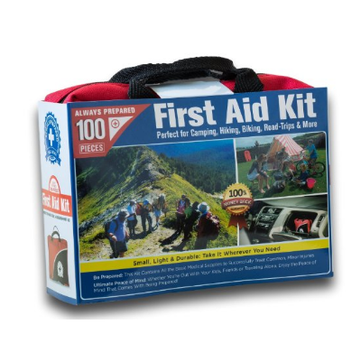 4. Small First Aid Kit 100 Piece: Car, Home, Survival