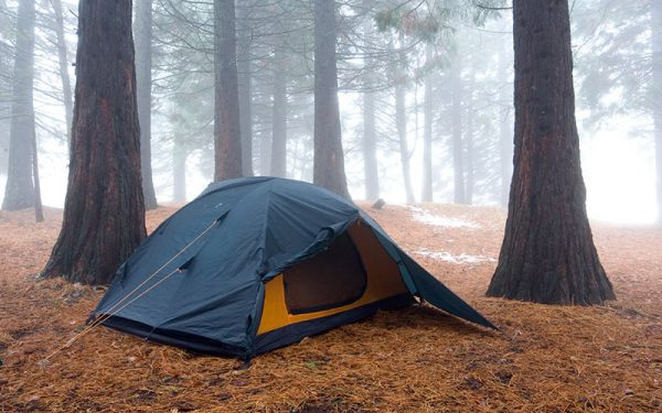 where to set up a tent