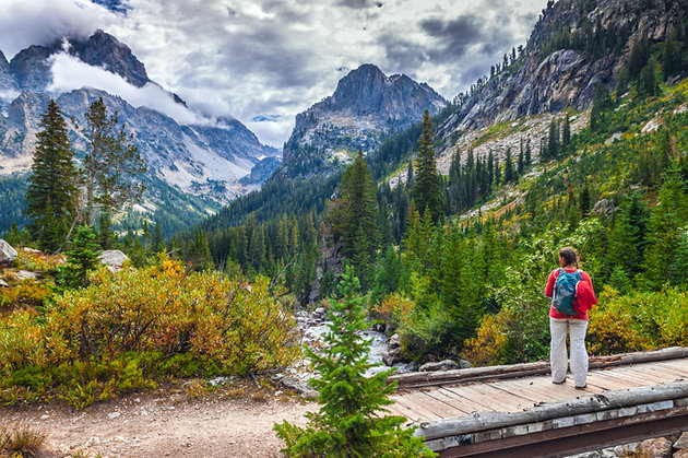 The Cascade Canyon Trail in Wyoming