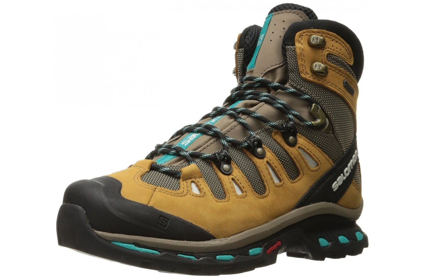 A three quarter view of the Salomon Quest 4D 2 GTX hiking boot