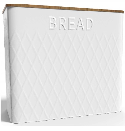 Extra Large Vertical Bread Box + Bamboo Cutting Board