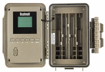 Opened view of Bushnell 16MP Trophy Cam HD Essential E3 Trail Camera