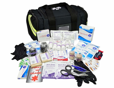 Lightning X Value Compact Medic First Responder EMT/EMS First Aid Kit with all of its supplies
