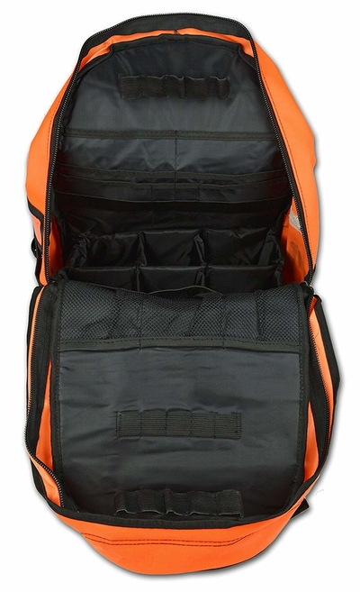 Inside view of Lightning X First Responder First Aid Kit Backpack