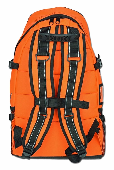 Back view and straps of Lightning X First Responder First Aid Kit Backpack